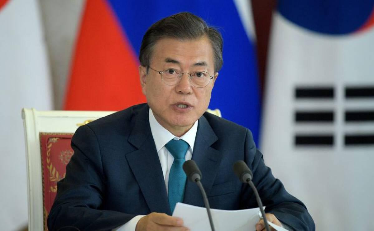 นายมูน แจ-อิน ประธานาธิบดีเกาหลีใต้