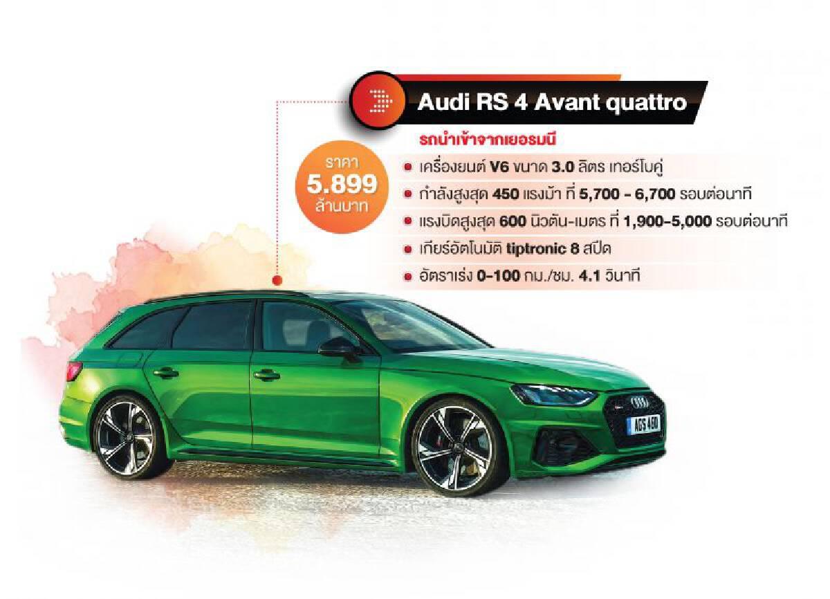 Audi RS 4 Avant สายโหด MG EP อีวีราคาถูก...ทางเลือกใหม่รถสเตชั่นแวกอน