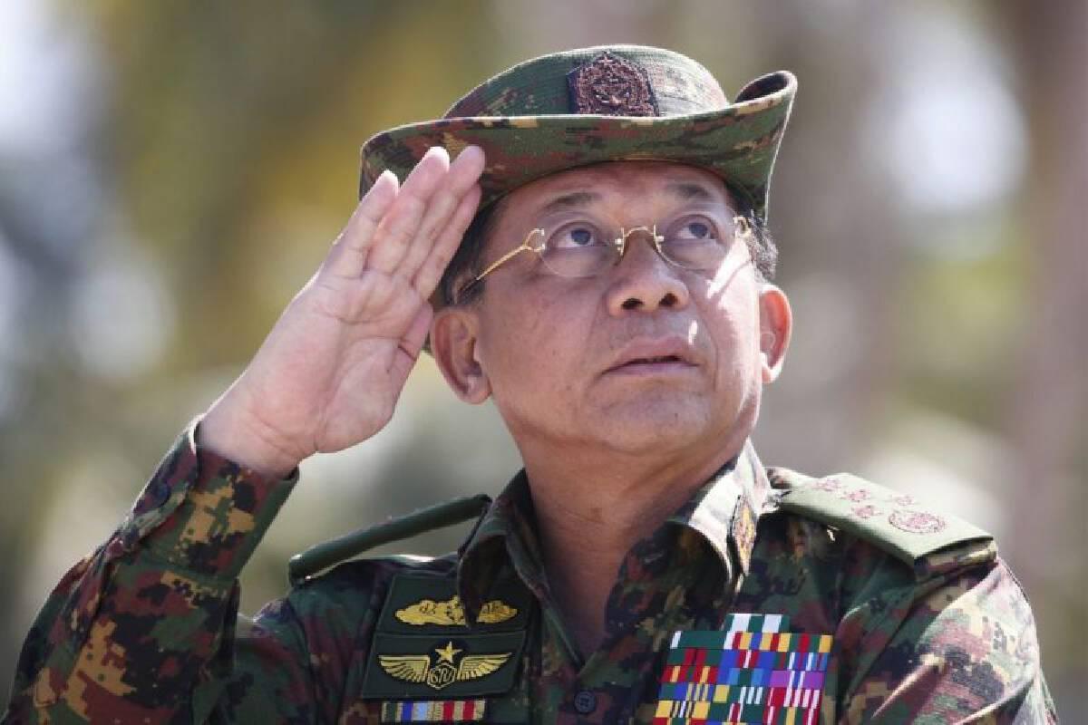 พล.อ.อาวุโส มิน อ่อง หล่าย ผู้บัญชาการกองทัพเมียนมา