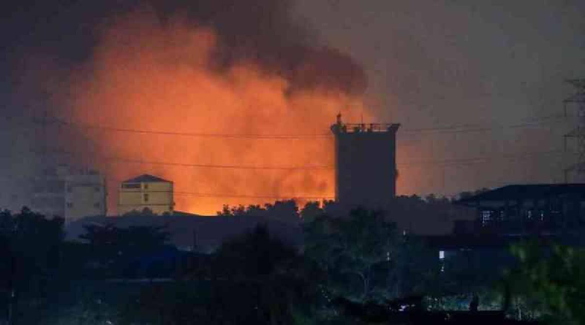 โรงงานของกลุ่มทุนจีนในย่างกุ้งถูกเผา