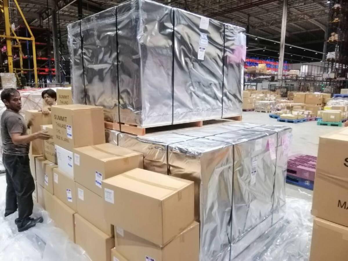 ยาฟาวิพิราเวียร์ขนส่งจากญี่ปุ่นมาถึงประเทศไทย