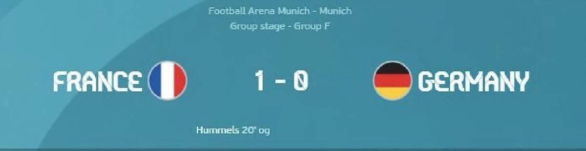 ยูโร2020 : ฝรั่งเศส VS เยอรมัน