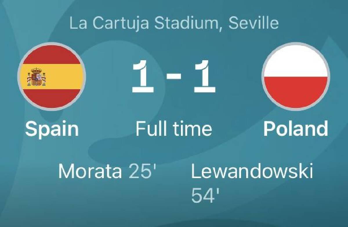 ยูโร2020 สเปน เสมอ โปแลนด์ 1-1