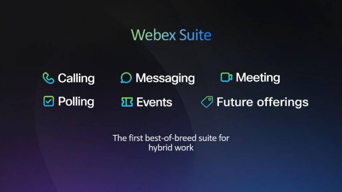 """อวดฟีเจอร์ใหม่ 800 รายการ"""" Webex"""" รับทำงานแบบไฮบริด"""