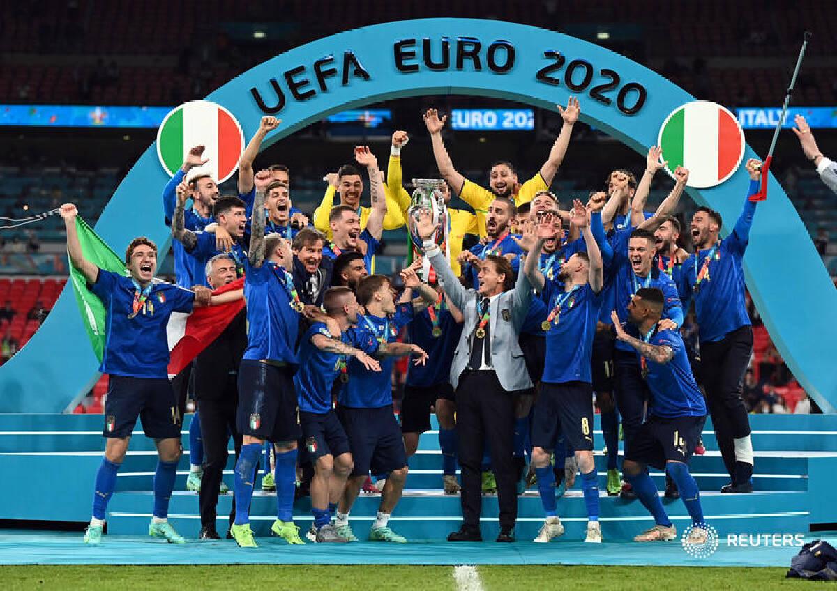 """""""อิตาลี"""" ผงาดคว้าแชมป์ """"บอลยูโร2020"""" ดวลจุดโทษชนะอังกฤษ"""