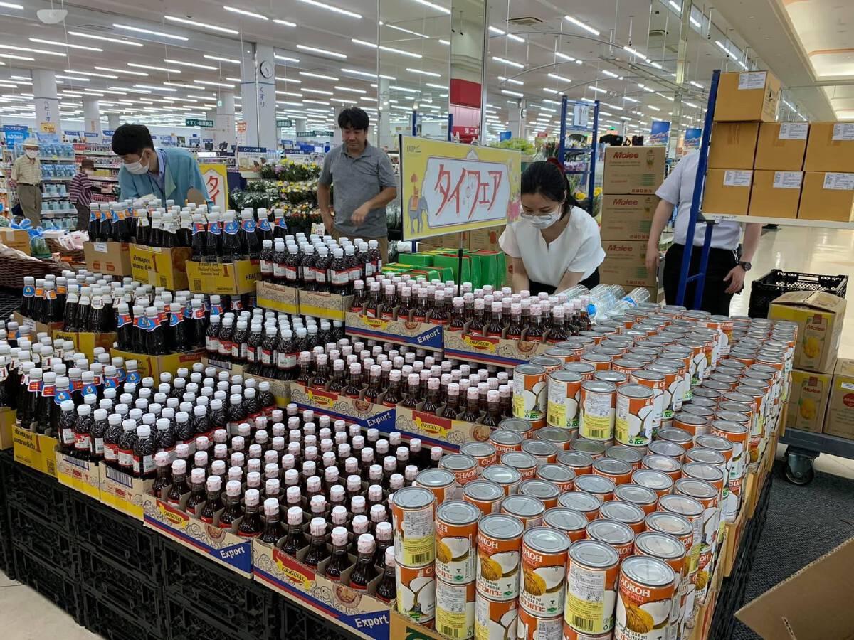 """""""ทูตพาณิชย์ญี่ปุ่น"""" จับมือซุปเปอร์มาร์เก็ต Beisia จัด Thai Fair โปรโมตสินค้าไทย"""
