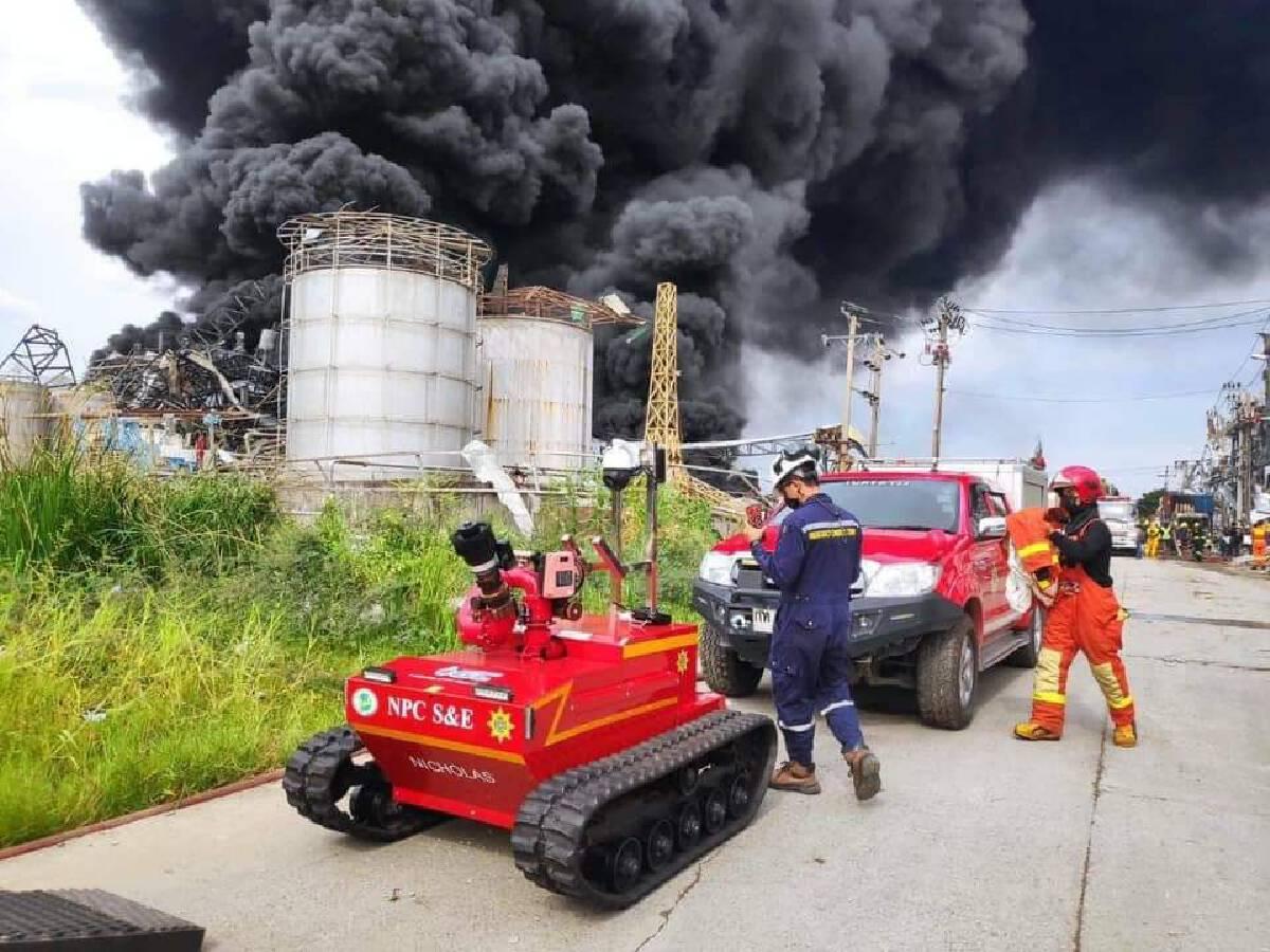 กลุ่ม ปตท. ระดมความเชี่ยวชาญ ช่วยเหลือเหตุเพลิงไหม้โรงงานสารเคมี อ.บางพลี