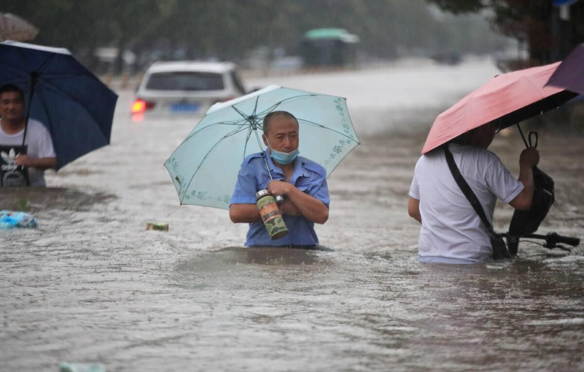 ภาคกลางของจีนกำลังเผชิญมหาอุทกภัย