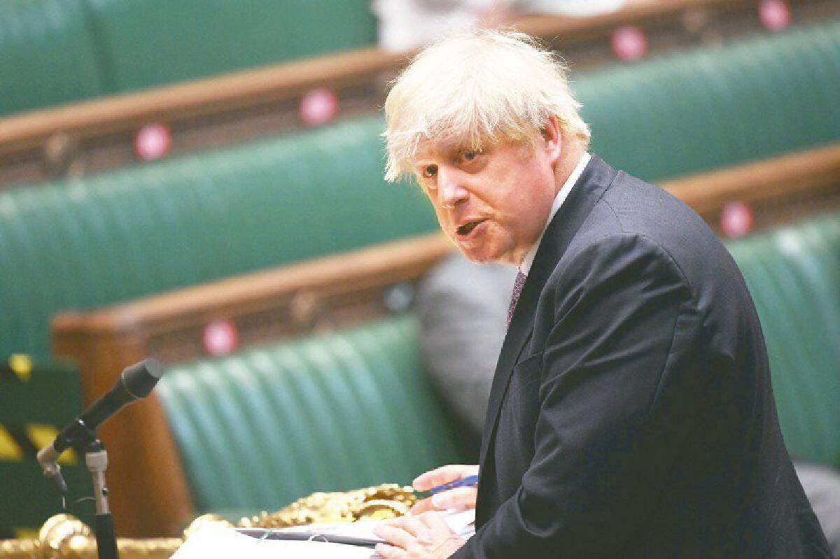 นายบอริส จอห์นสัน นายกรัฐมนตรีอังกฤษ