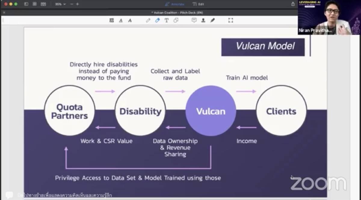 Vulcan Coalition ผนึก depa ยกระดับ AI จากศักยภาพผู้พิการ