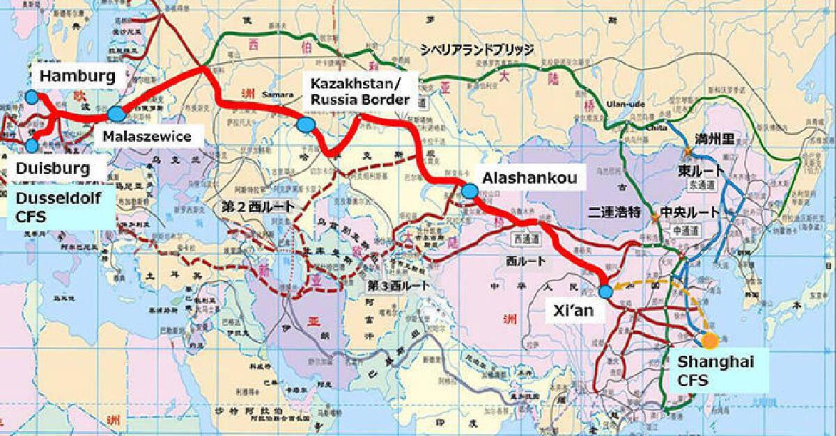 """รถไฟสินค้า """"เซี่ยงไฮ้ เอ็กซ์เพรส"""" เตรียมเปิดหวูดไปเยอรมนีขบวนแรก 28 ก.ย."""