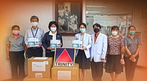 บล.ทรีนีตี้ มอบอุปกรณ์การแพทย์ ให้ รพ.สวนเบญจกิติฯ ช่วยผู้ป่วยโควิด -19